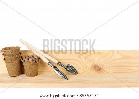 Garden Trowels With Peat Pots