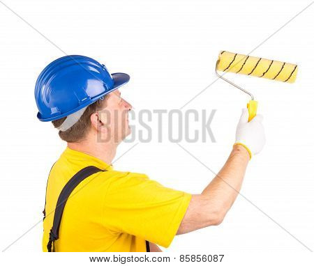 Worker with roller