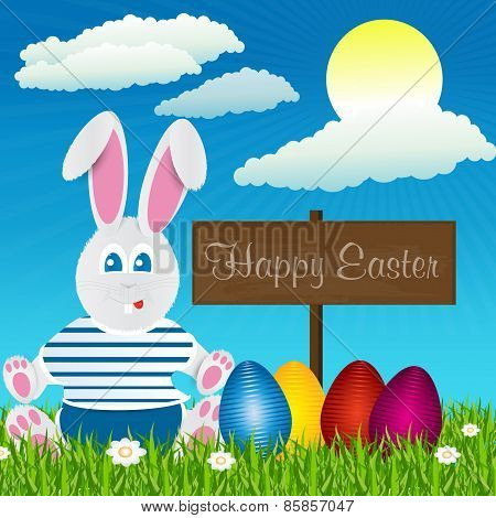 Easter Bunny. Happy Easter. Easter Eggs.uskrs
