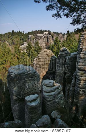 Sandstone Rocks In National Park