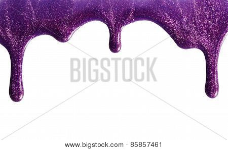 Shimmery Purple Nail Polish
