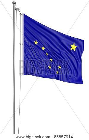 3D Alaska Flag