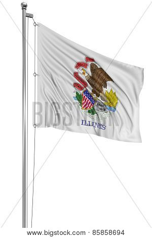 3D Illinois Flag