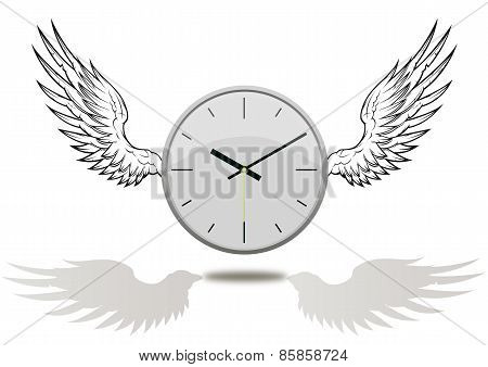 Clock With Wings