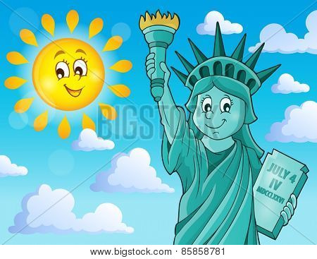 Statue of Liberty theme image 2 - eps10 vector illustration.