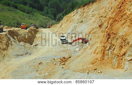 Stone quarry work