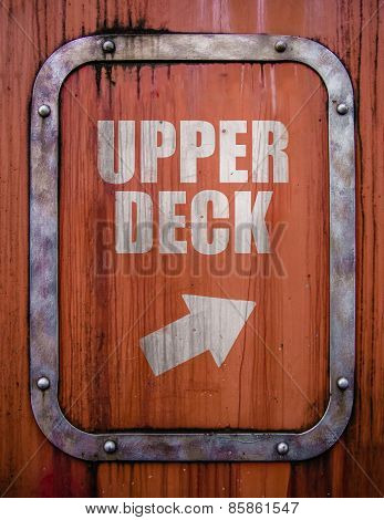 Grungy Upper Desck Sign