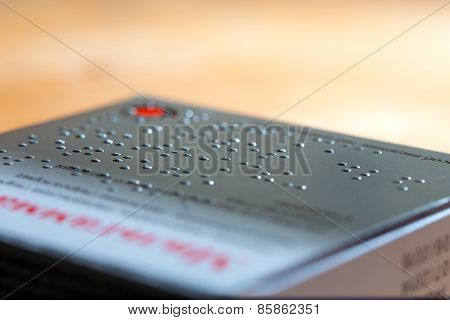 Packaging Of Drugs Labeled In Braille