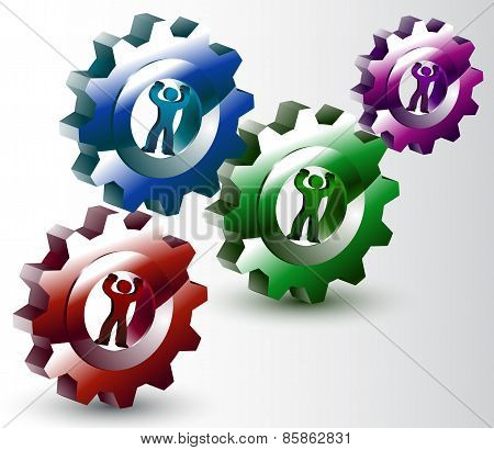 People, Turning, Gears, Synergy