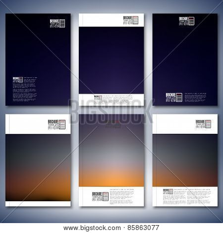 Abstract blurred background. Brochure, flyer or report for business, templates vector