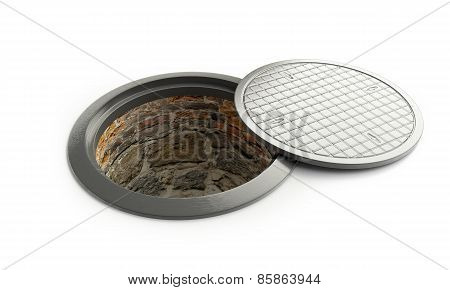 Street Manhole Open