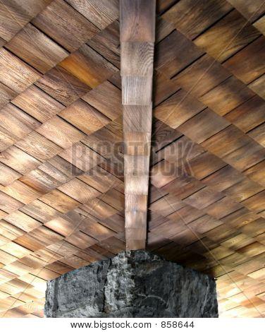 Cedar Shake Ceiling