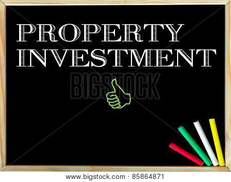 Property Investment Message And Like Sign