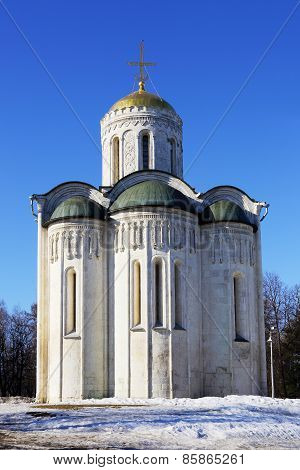 Cathedral Of Saint Demetrius In Vladimir City