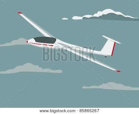 illustration of a glider