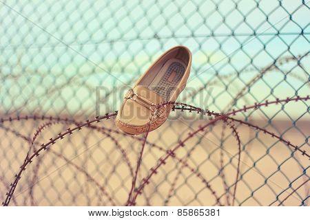 Shoes. Woman Shoes. lost Shoes