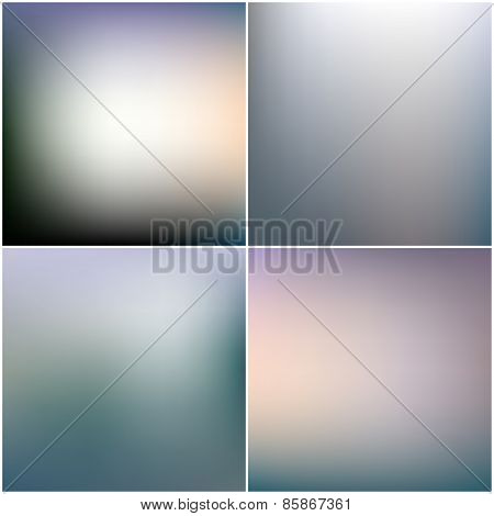 Abstract editable blurred backgrounds set