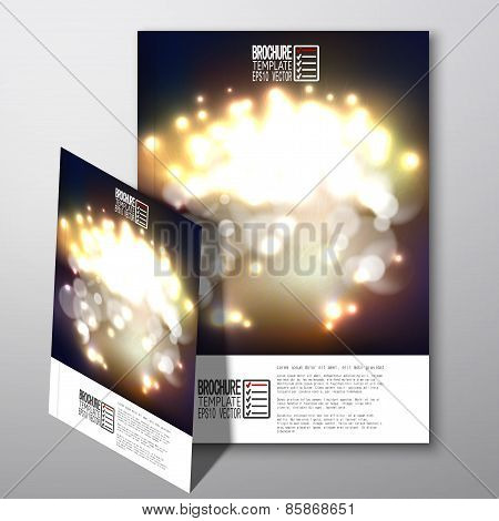 Blurry background with bokeh effect. Brochure, flyer or report for business, template vector