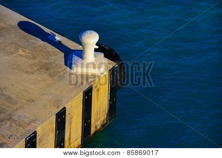 Pier In The Mooring Sun