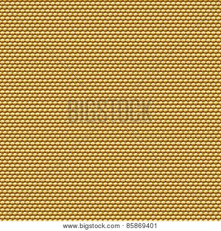Seamless golden fabric background.