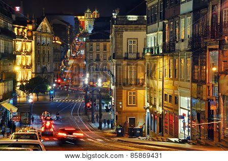 Night view of Porto