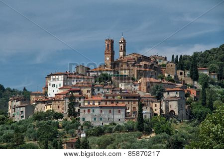 Town of Sinalunga in Tuscany, Italy