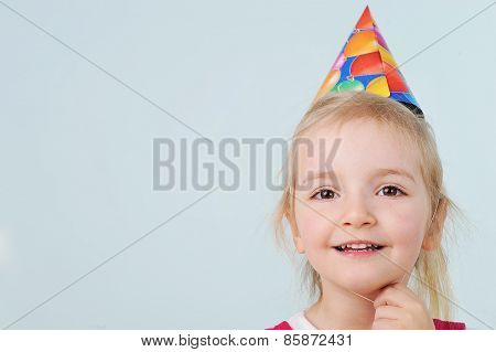 Girl With Birthday Hat