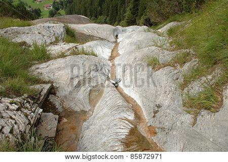 Narrow Stream Of Water