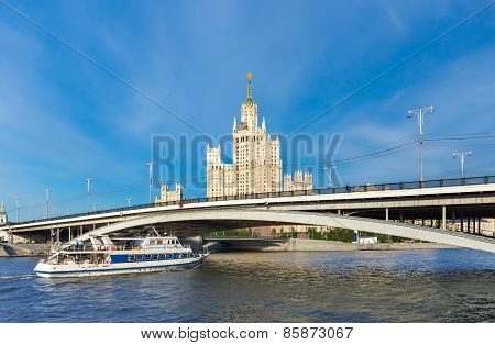 Cruise Boat On Moscow River