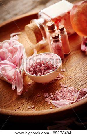 Spa Still Life With Flower Petals