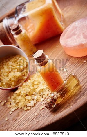 Spa Still Life With Orange Sea Salt