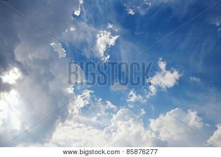 Bkue Sky With White Clouds