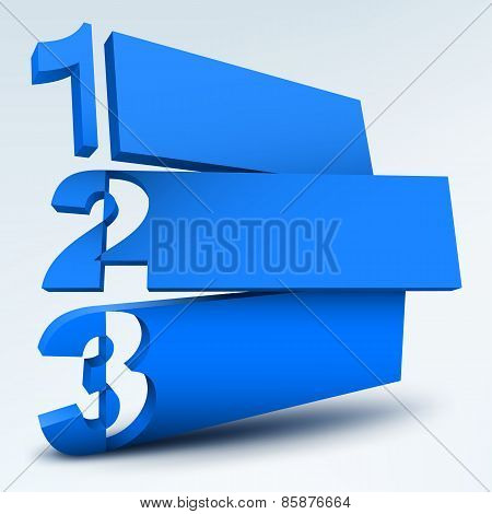 Abstract numbered banners