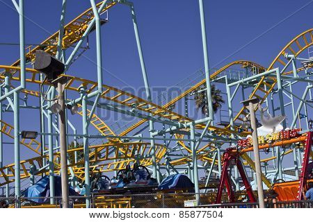 Santa Cruz Colored Iron Rollercoaster