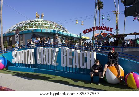 Santa Cruz Beach  amusement park in California