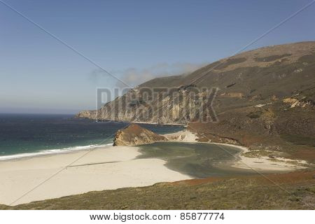 California Coastline and lagoon