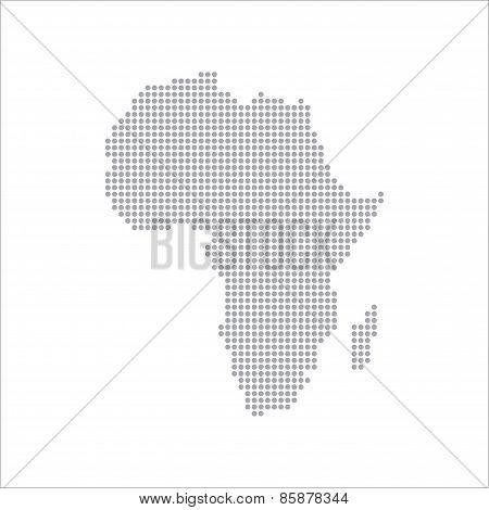 Dots Grey Map Africa vector Illustration