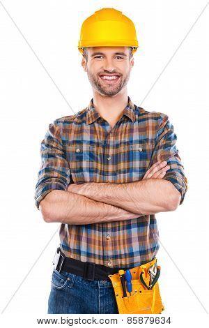 Confident Repairman.