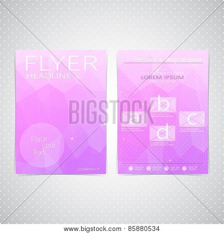 Abstract Flyer design Triangle template layout , magazine, booklet, cover or report in A4 size for y