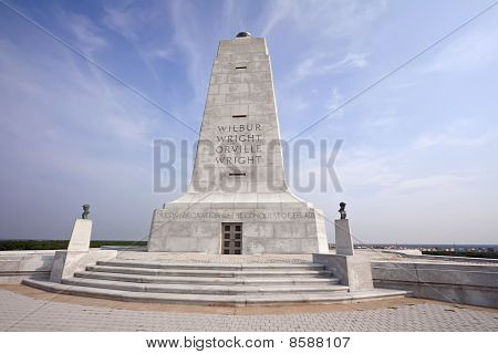 Wright Brothers Monument At Kitty Hawk, North Carolina