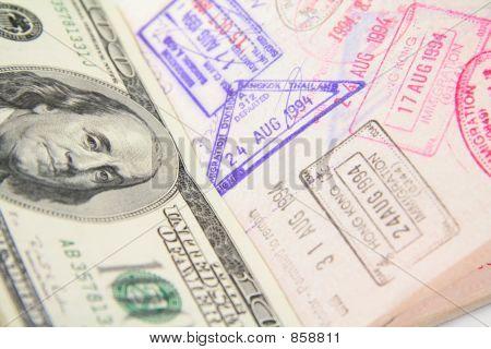 passport with stamp