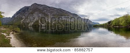 Panorama Of Bohinj Lake