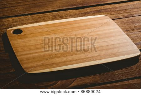Wooden chopping board with copy space