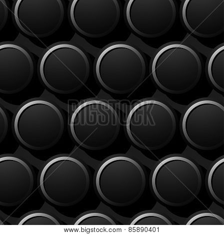 Round Metal Rings Textured Seamless Pattern