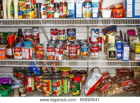 Pantry Full Of Food Staples