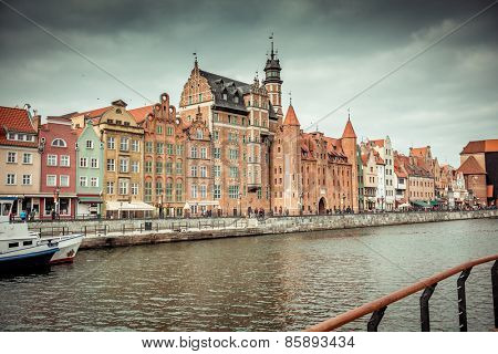 views of the waterfront in  Gdansk. Poland