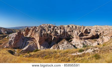 Panorama of Cappadocia Turkey - nature background