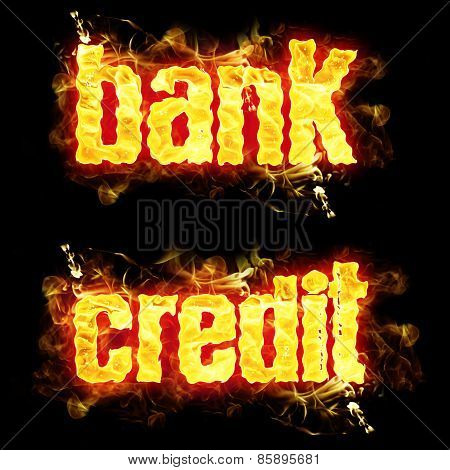 Fire Text Bank Credit