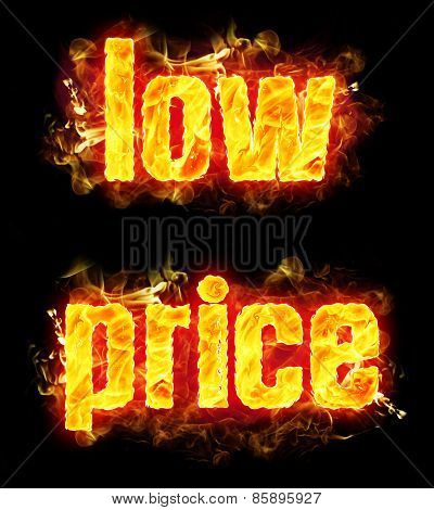 Fire Text Low Price
