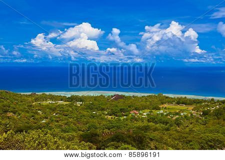 Island La Digue at Seychelles - nature background